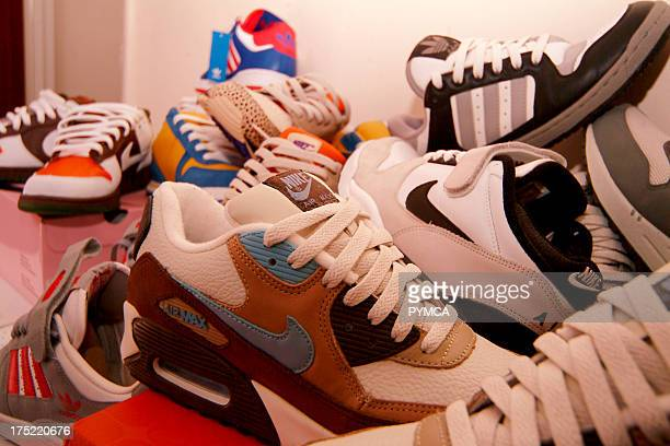 Trainer collection Nike Adidas London UK 2005