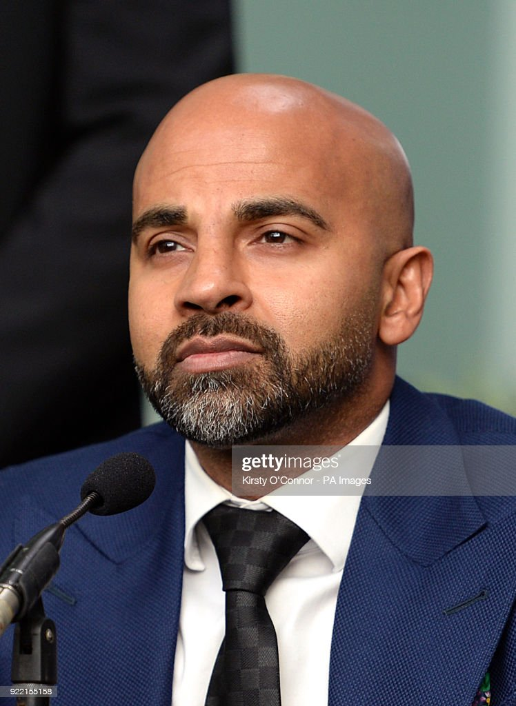 Trainer David Coldwell during the press conference at Park Plaza Westminster Bridge, London. PRESS ASSOCIATION Photo. Picture date: Wednesday February 21, 2018. See PA story BOXING London. Photo credit should read: Kirsty O'Connor/PA Wire