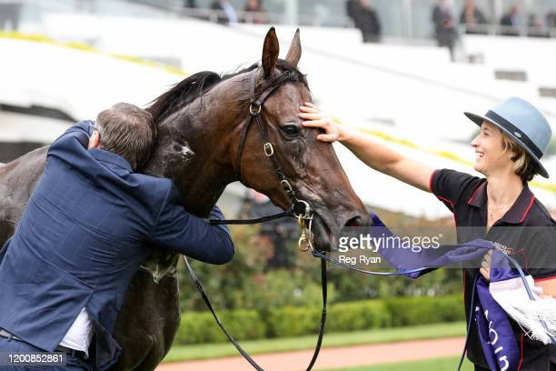 Trainer David Vandyke after his horse Alligator Blood won the CS Hayes Stakes at Flemington Racecourse on February 15 2020 in Flemington Australia
