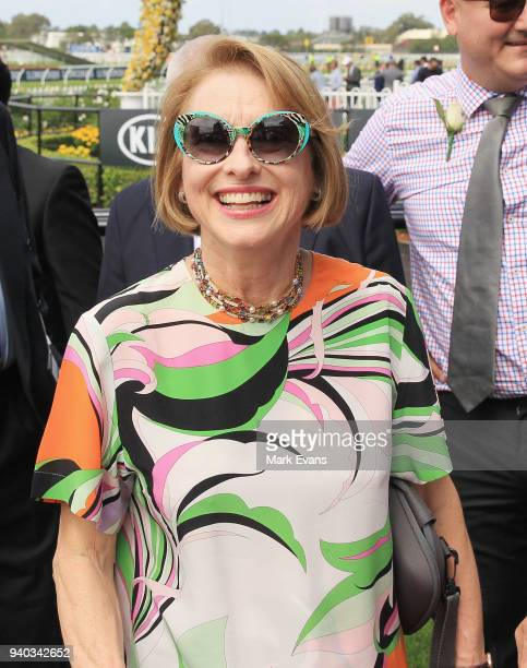 Trainer Gai Waterhouse after winning race 4 on Prompt Response during Sydney Racing at Rosehill Gardens on March 31 2018 in Sydney Australia