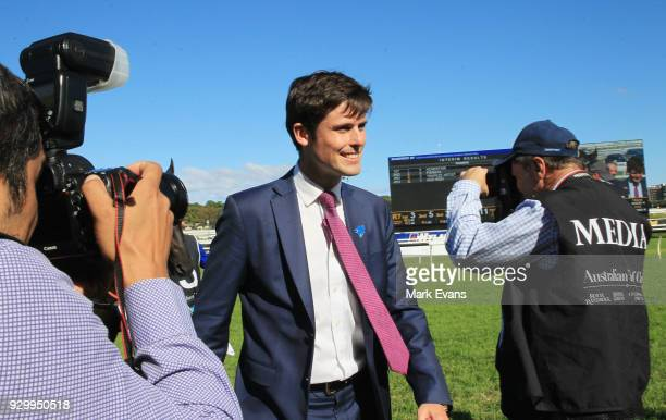 Trainer James Cummings after winning race 7 with Kementari in The Randwick Guineas during Sydney Racing at Royal Randwick Racecourse on March 10 2018...