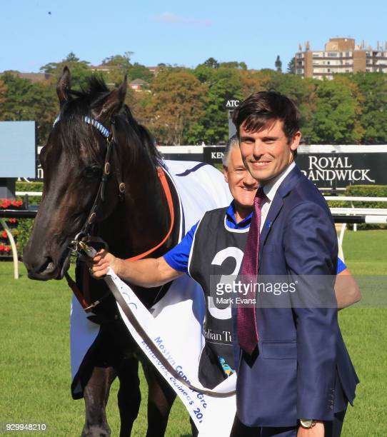 Trainer James Cummings with Kementari after winning race 7 The Randwick Guineas during Sydney Racing at Royal Randwick Racecourse on March 10 2018 in...