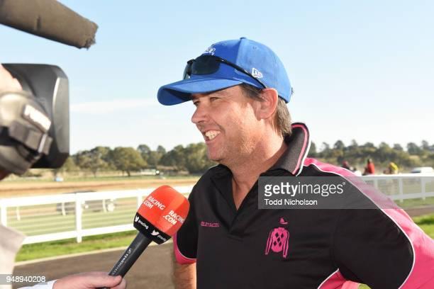 Trainer Jamie Edwards after his horse Bjorn Pretty won the bet365 Neville Wilson Series Heat 6 at Hamilton Racecourse on April 20 2018 in Hamilton...