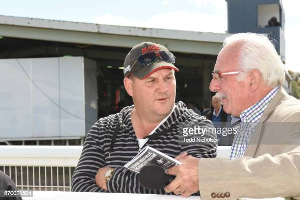 Trainer Jamie Opperman after his horse Normandy Lad won the Te Mania Angus BM52 Handicap at Mortlake Racecourse on November 04 2017 in Mortlake...