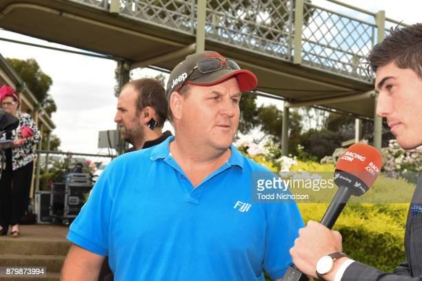 Trainer Jamie Opperman after his horse Redeeka won the WDEA CGE BM58 Handicap at Hamilton Racecourse on November 27 2017 in Hamilton Australia