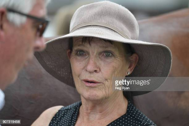 Trainer Jenny GowWhyte after her horse Gambler's Girl won the Gerard Ryan Electrical 0 58 Handicap at Camperdown Racecourse on January 20 2018 in...