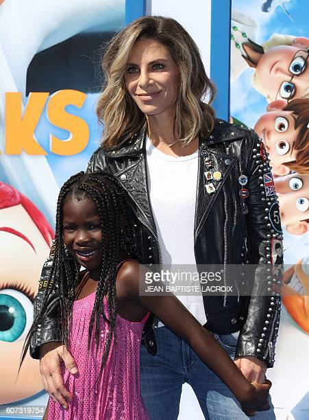 Trainer Jillian Michaels and daughter Lukensia Michaels Rhoades attend the Warner Bros Premiere Storks in Westwood California on September 17 2016 /...