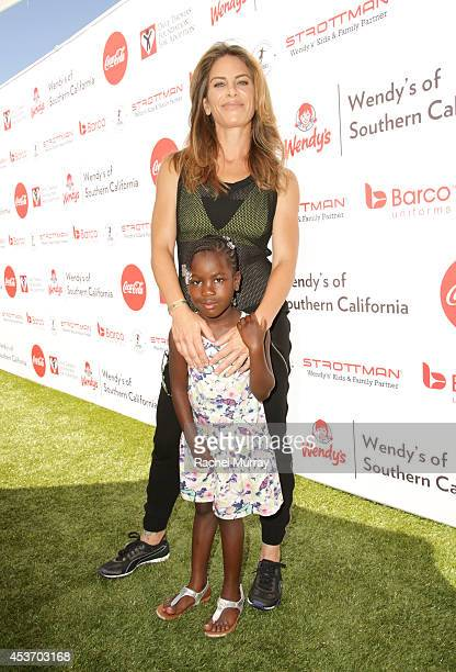 Trainer Jillian Michaels and her daughter Lukensia Michaels Rhoades attend Kickball For A Home Celebrity Challenge Presented By Dave Thomas...