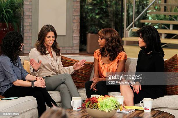 Trainer Jillian Michaels discusses where she is in the adoption process with the ladies of THE TALK on Friday November 12 on the CBS Television...