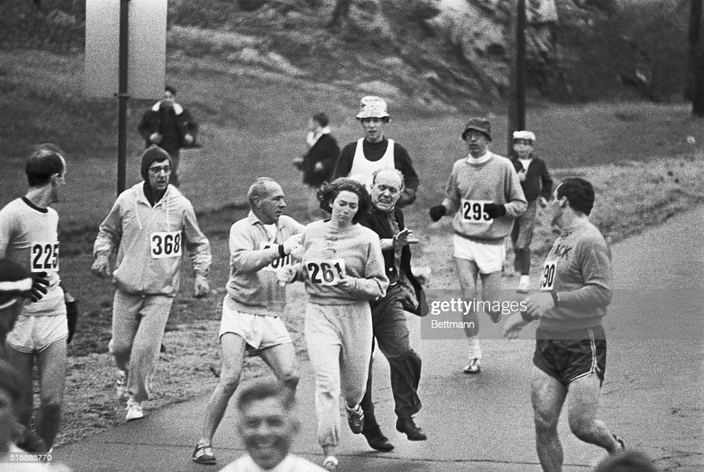 First Women in Boston Marathon : News Photo