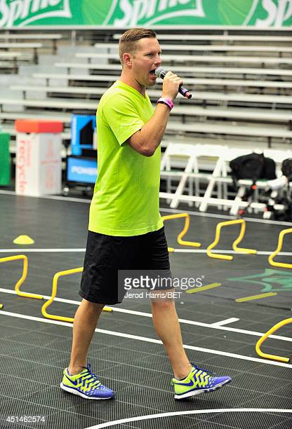 Trainer Joe Barton attends the Sprite Court during the 2014 BET Experience At LA LIVE on June 29 2014 in Los Angeles California