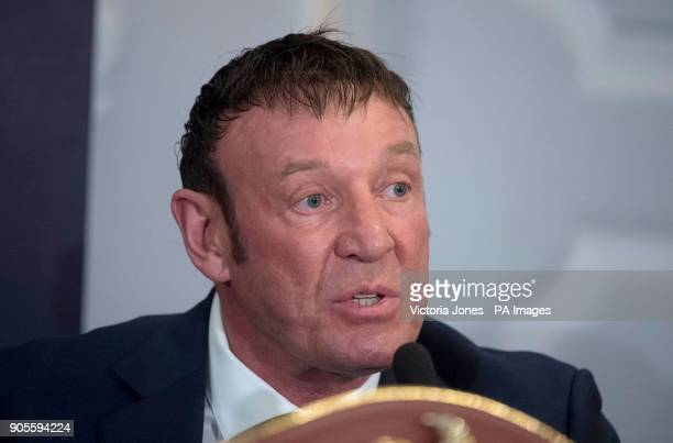Trainer Kevin Barry during the press conference at the Dorchester Hotel London PRESS ASSOCIATION Photo Picture date Tuesday January 16 2018 See PA...