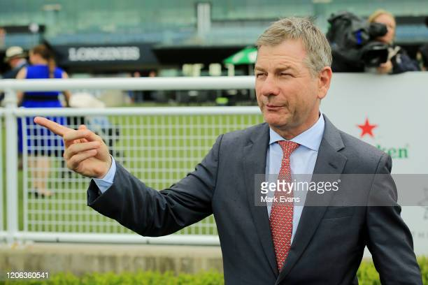 Trainer Kris Lees looks on after winning race 5 with Special Reward during Sydney Racing at Royal Randwick Racecourse on February 15 2020 in Sydney...