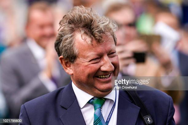 Trainer Mark Johnston after training his 4194th domestic British winner a new record at York Racecourse on August 23 2018 in York United Kingdom