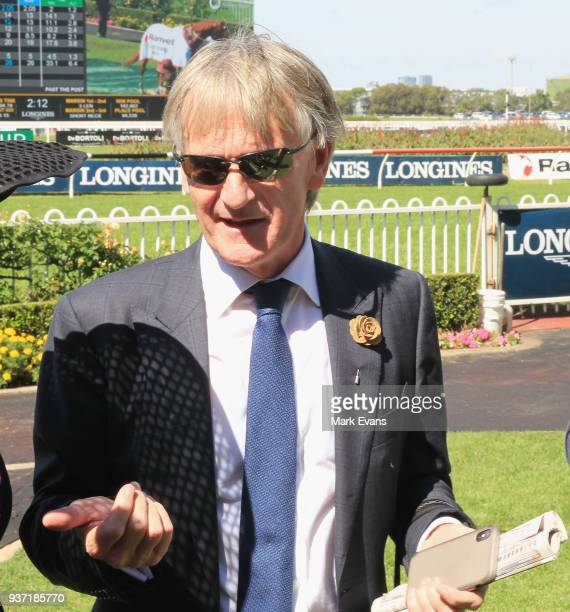 Trainer Mark Zahra after winning race 4 The Ranvet Stakes with Gailo Chop during Golden Slipper Day at Rosehill Gardens on March 24 2018 in Sydney...