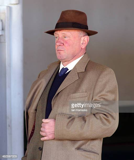 Trainer Nicky Richards during the Fighting Fifth Race Meeting at Gosforth Park Race Course on November 30 2013 in Newcastle upon Tyne England