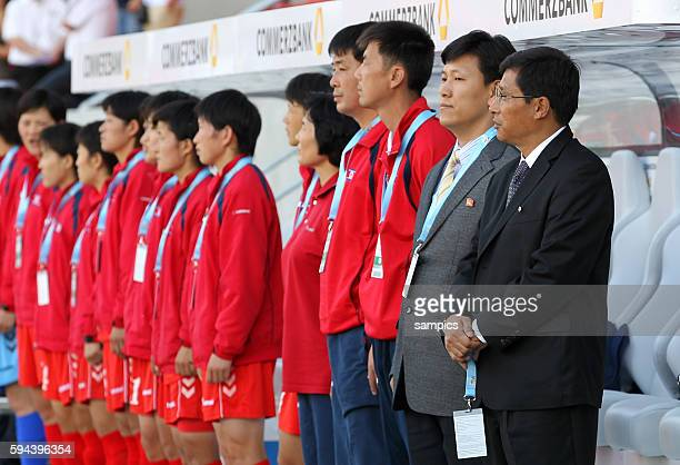 Trainer Nordkorea Kwang Min Kim Frauenfussball Länderspiel Deutschland Nordkorea Korea DVR 20 am 21 5 2011
