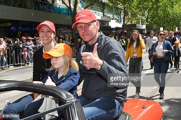 Trainer of Big Orange Michael Bell is seen during the 2016 Melbourne Cup Parade on October 31 2016 in Melbourne Australia