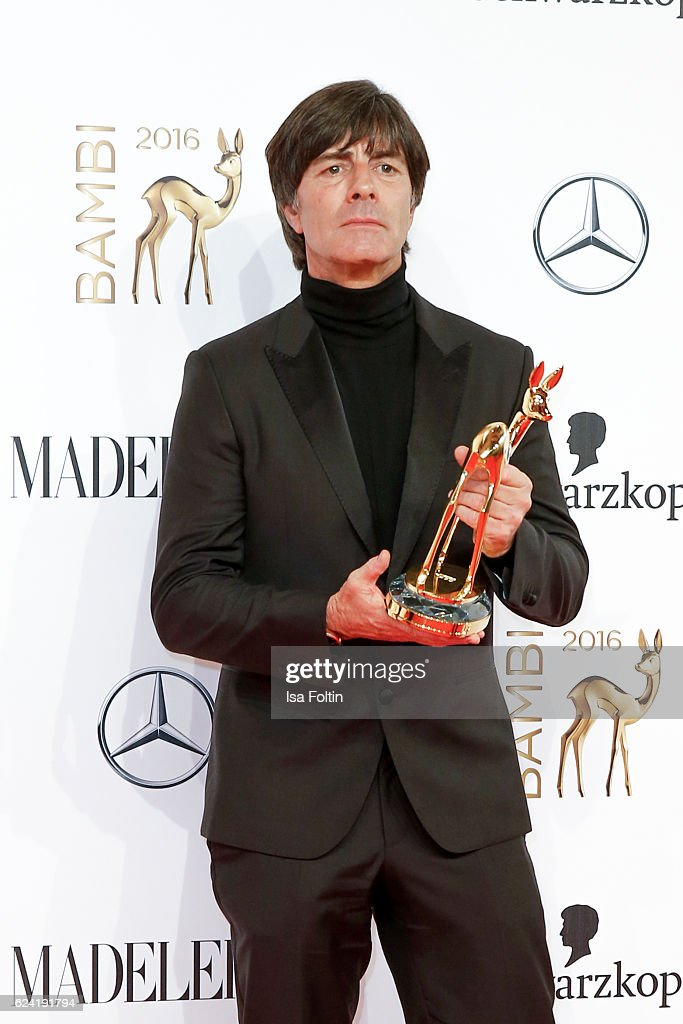 Trainer of the german national soccer team and award winner Joachim Loew during the Bambi Awards 2016 at Stage Theater on November 17, 2016 in Berlin, Germany.