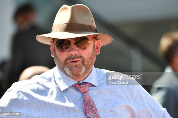 Trainer Peter Moody is seen after Lightsaber won Race 4, the Mss Security Sires' Produce Stakes, during Melbourne Racing at Flemington Racecourse on...