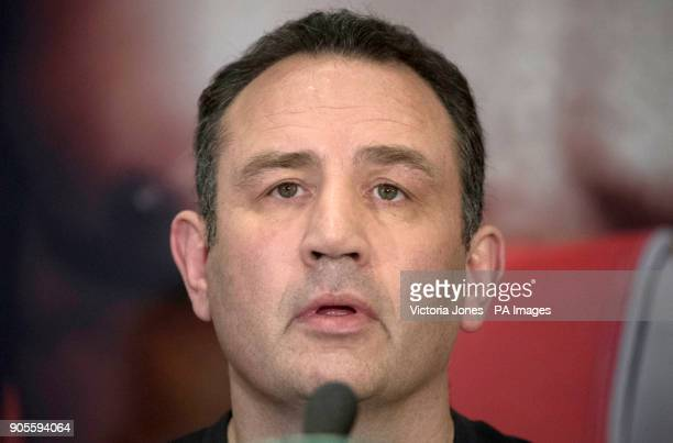 Trainer Rob McCracken during the press conference at the Dorchester Hotel London PRESS ASSOCIATION Photo Picture date Tuesday January 16 2018 See PA...