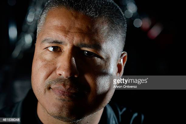 Trainer Robert Garcia poses for a portrait. Media day for Mike Alvarado and Brandon Rios in preparation for their third fight on Wednesday, January...