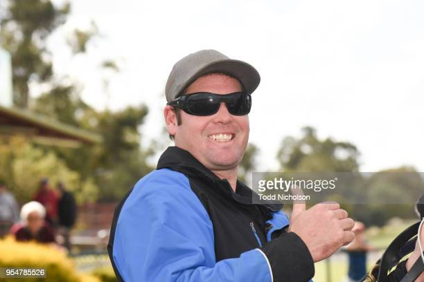 Trainer Scott Whittle after his horse Archway to Heaven won the Save The Date Sun Oct 21st 0 58 Handicap at Horsham Racecourse on May 05 2018 in...