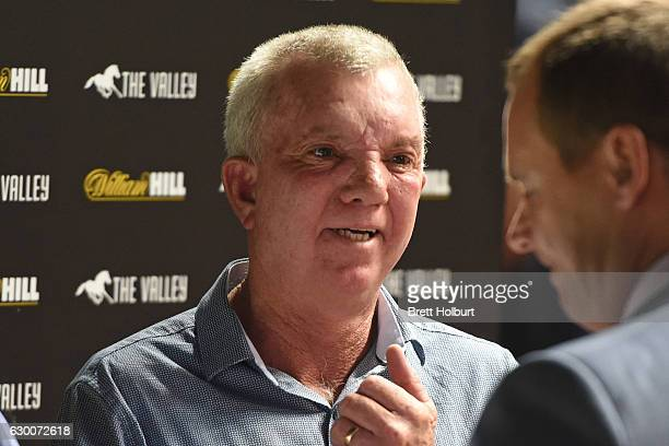 Trainer Shane Fliedner after his horse In Fairness won LF Sign Group Handicap at Moonee Valley Racecourse on December 16 2016 in Moonee Ponds...