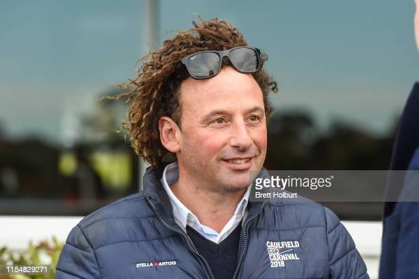 Trainer Simon Zahra after his horse Parmie won the Yulong Handicap at Ladbrokes Park Hillside Racecourse on July 10 2019 in Springvale Australia