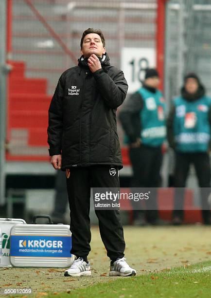 Trainer Stephan Schmidt, Einzelbild, Aktion , FC Energie Cottbus, zweite Bundesliga, Sport, Fußball Fussball, Stadion der Freundschaft Cottbus,...
