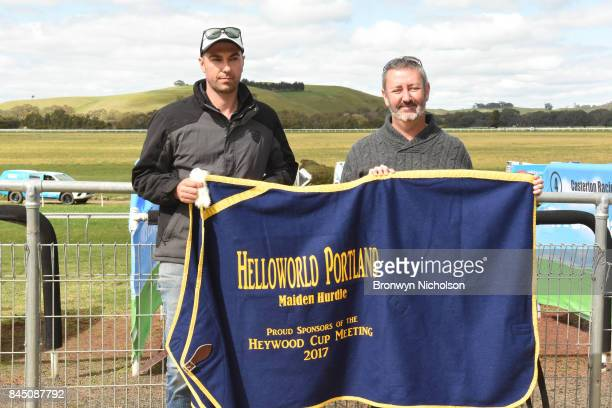 Trainer Symon Wilde after his horse Kuridala won the Helloworld Portland Maiden Hurdle at Casterton Racecoure on September 10 2017 in Casterton...