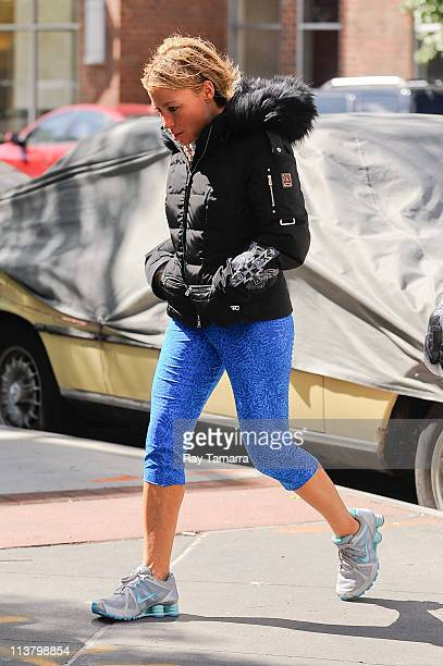Trainer Tracy Anderson walks in Tribeca on May 5 2011 in New York City