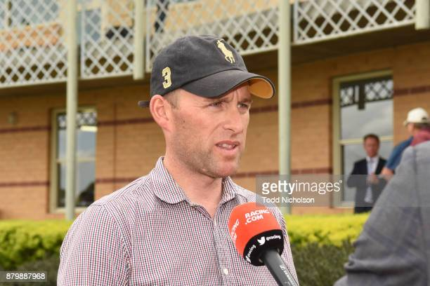 Trainer Vincent Malady after his horse Buzz Punch won the CoggerGurry Chartered Accountants BM58 Handicap at Hamilton Racecourse on November 27 2017...