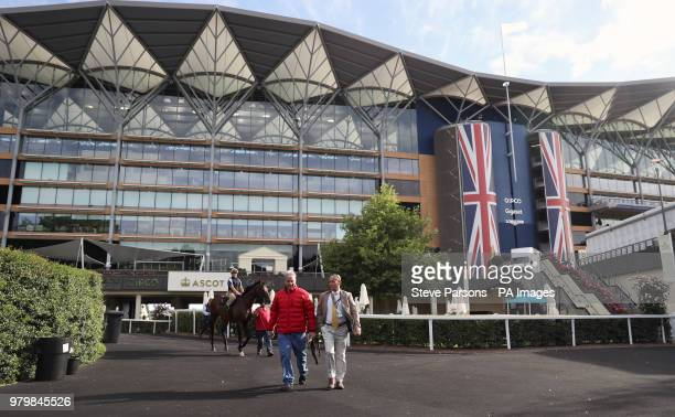 Trainer Wesley Ward during day three of Royal Ascot at Ascot Racecourse.