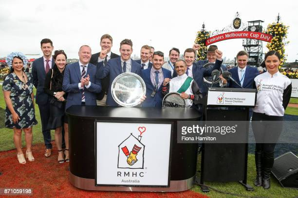 Trainers Ben Hayes David Hayes and Tom Dabernig with Michael Walker and connections after Fanatic after won the Ronald McDonald House Charities Plate...