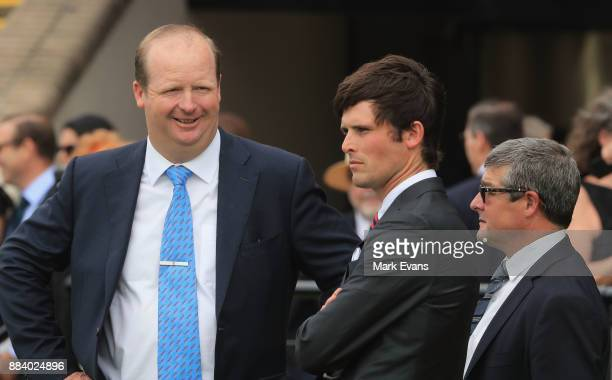 Trainers Gary Portelli and James Cummings during Sydney Racing at Rosehill Gardens on December 2 2017 in Sydney Australia