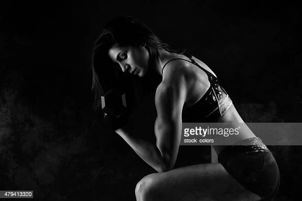 formação e em manter-me ativa - silhueta de corpo feminino preto e branco imagens e fotografias de stock