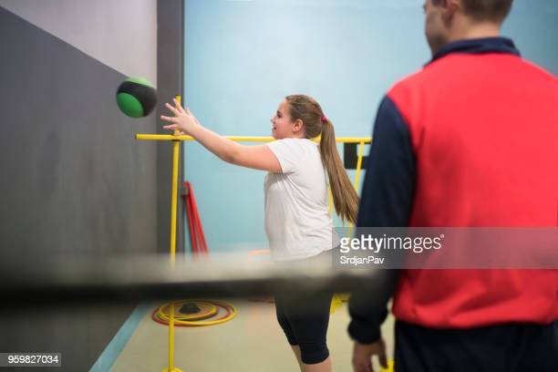 training and playing - fat kid stock photos and pictures