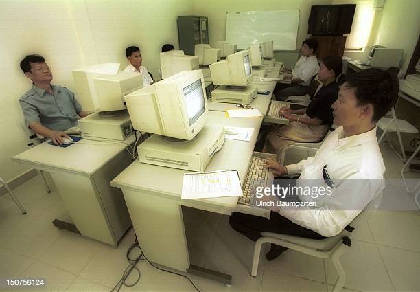 Training at the computer at the National Institute of Public Health