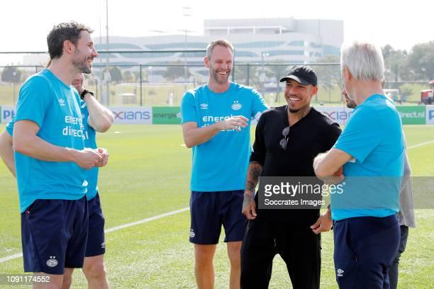 Training Camp PSV in Qatar Andre Ooijer of PSV Mark van Bommel of PSV Boudewijn Zenden of PSV Nigel de Jong Wesley Sneijder Bert van Marwijk of PSV...