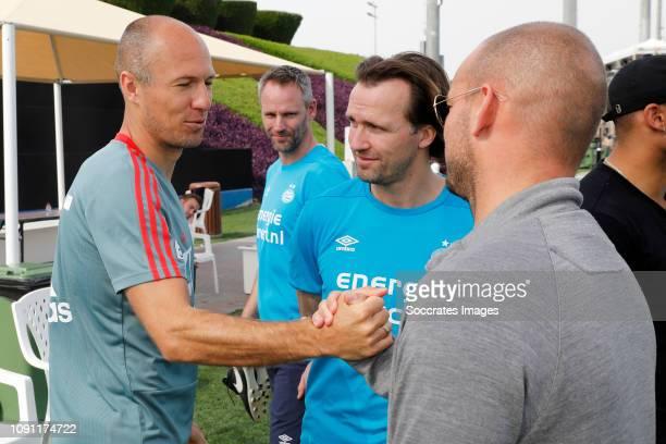 Training Camp PSV in Qatar Arjen Robben of Bayern Munchen Andre Ooijer of PSV Boudewijn Zenden of PSV Wesley Sneijder during the Training Camp PSV in...