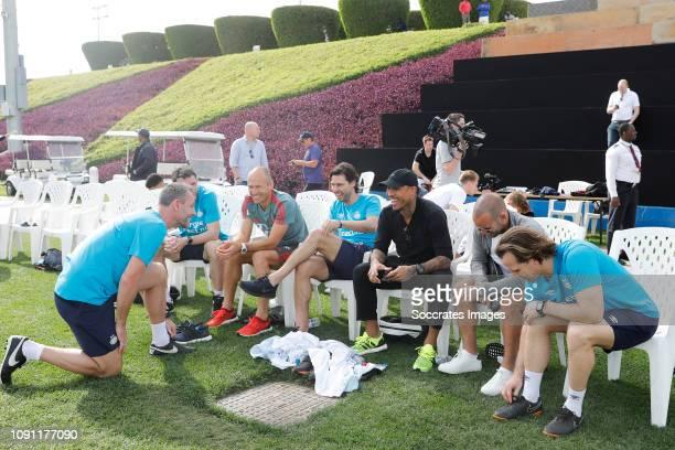 Training Camp PSV in Qatar Mark van Bommel of PSV Arjen Robben of Bayern Munchen John de Jong of PSV Nigel de Jong Wesley Sneijder Andre Ooijer of...