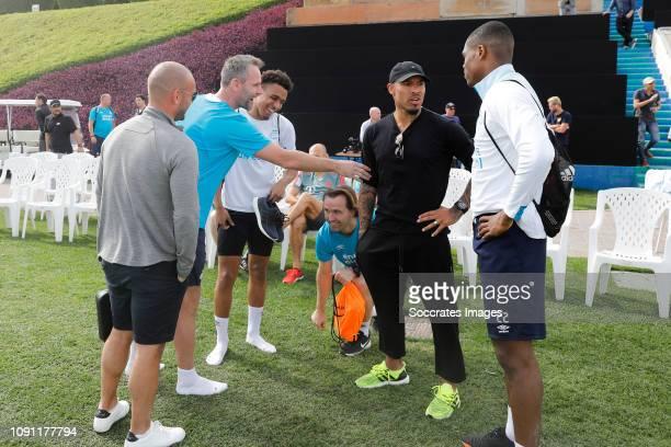 Training Camp PSV in Qatar Wesley Sneijder Andre Ooijer of PSV Donyell Malen of PSV Boudewijn Zenden of PSV Nigel de Jong Denzel Dumfries of PSV...