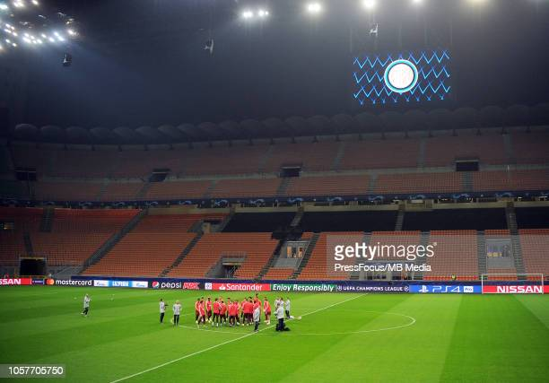 Training during the FC Barcelona training session at San Siro Stadium on November 5 2018 in Milan Italy