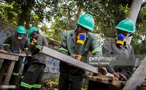 Training for carpenters at the vocational school Young Africa on September 29 2015 in Beira Mozambique