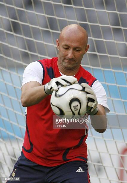 Training French And Portuguese Teams In Munchen Stadium For Fifa World Cup Germany 2006 Before Semi Final In Munich Germany On July 042006 Fabien...
