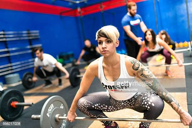 training gym class weightlifting on a gym La Mole gym