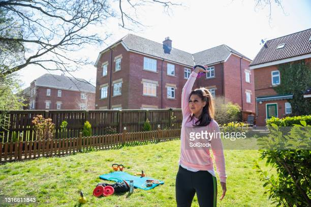 training in the fresh air - middlesbrough stock pictures, royalty-free photos & images