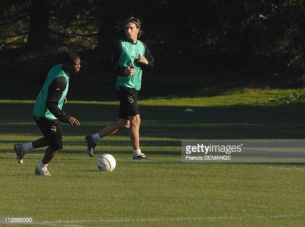 Training Of Asnl First In League 1 In Nancy France On October 18 2007 The players of the training including the doyen Biancalani and Kim