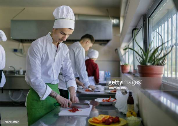 Training of cooks in a vocational school in Kamza Albania on March 28 2017 in Kamza Albania